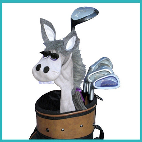 Handmade Gray Donkey Golf Club Cover