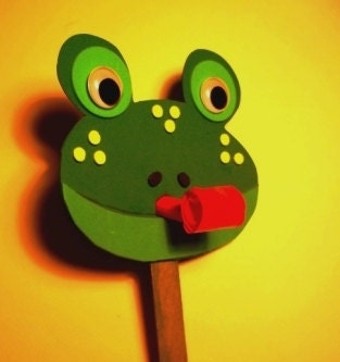Frog Craft With Party Blower