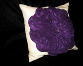 Deep Violet Felt Petal Pillow - Custom Made for Bob Meyers BF11239