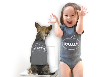 Waah Woof - Baby Bodysuit and Dog T