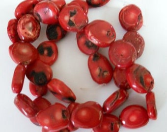 CORAL NUGGETS -- 17 Beads