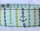Anchors Aweigh Martingale Dog Collar