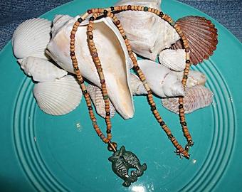 Free Shipping Natural Soul Mates- Natural Jasper Cork Necklace ET-SM-NT