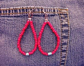 Luv Beads Drop Hippie Boho Earrings ET-HPE-LBR-E1
