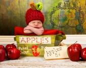 Sweet Apple Hat...Great Fall Photo Prop