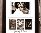 Wedding / Anniversary Frame your Date: Sepia- Personalized with your own photo