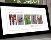 "Alphabet Photography Christmas Decoration Print: Unframed 10""x20"""