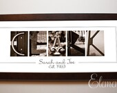 Personalized Surname Art, Wedding Gift Alphabet Letter Photography : Sepia 10x26 Frame
