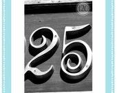 4x6 Number 25 Individual Print