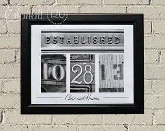 Unframed Wedding Guest Book Number Photography - Personalized Wedding, Anniversary Gift, 11x14 Professional Paper Print
