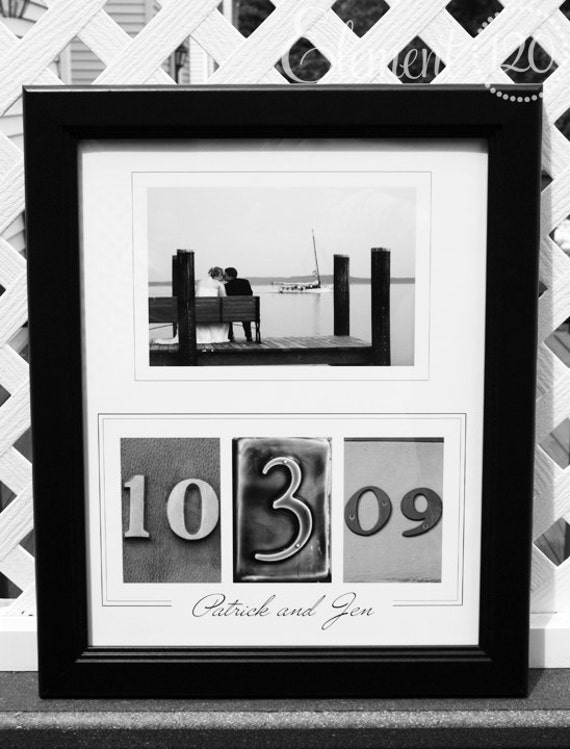 Custom Wedding / Anniversary Gift Alphabet Photography Number Frame - Personalized with YOUR photo