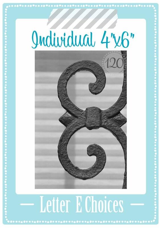 Alphabet Art 4x6 Letter E Individual Print