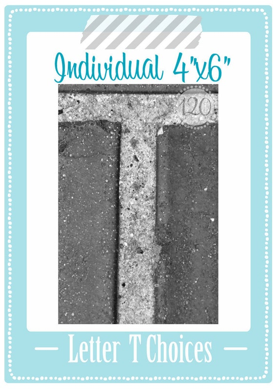 Alphabet Photography T Individual 4x6  Print