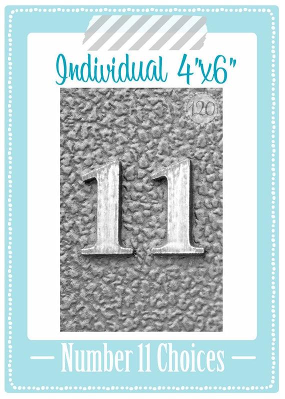 Number 11 Individual Art 4x6 Print