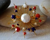 Red White and Blue Firecracker Brooch