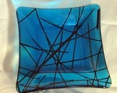 transparent blue chopstix bowl
