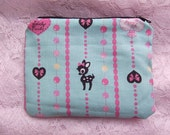 Lovely Hearts Bambi Coin Cards Phone Camera Zippy Pouch