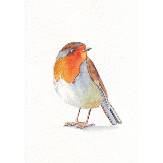 Robin painting -  ORIGINAL watercolor painting