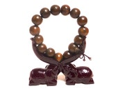 Sandalwood Hand Carved Tibetian Buddhist Prayer Beads