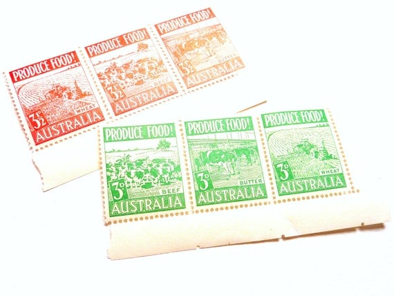 Australian Post War Production Primary Stamps