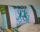 Blue Octopus Pillowcase