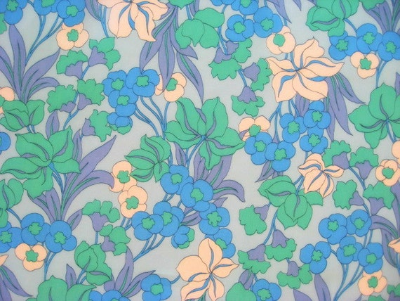 Vintage floral fabric FQ (New and never used)