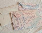 Map envelopes of New York City (set of 6)