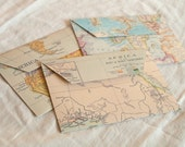 Map envelopes of the Continents (set of 6)