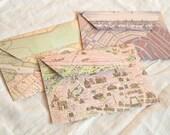 Map envelopes of European Cities (set of 6)