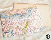 New York City map envelopes (set of 6)