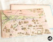 European map envelopes (set of 6)