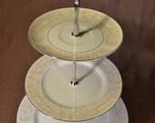 Golden Glow 3 Tier Cake Tea Stand Weddings, Tea Parties, Showers, Display FREE shipping