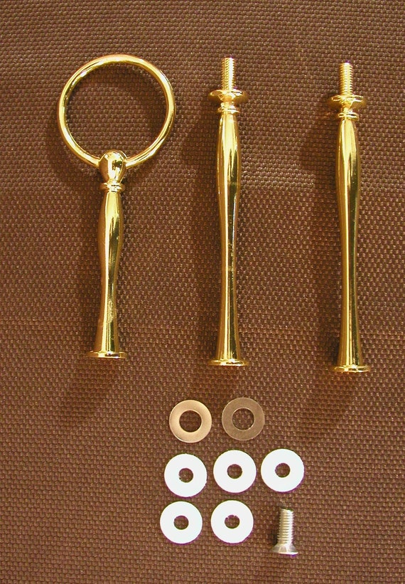 Cake stand 3 tier Handle Fitting Style 2 GOLD Finish Hardware Buy 3 get one FREE