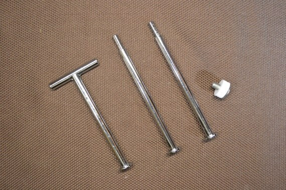 SALE Tidbit Cakestand Handle Style 7 SILVER DIY Kit for 3 Tier Hardware Fittings Drill Bits Instructions