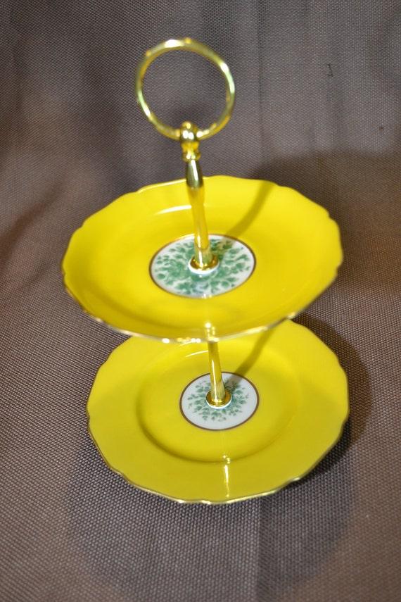 Yolk Yellow Mini Stand Jewelry Tidbit Tray Cake Stand FREE Shipping