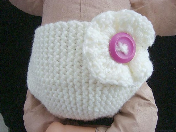 Knitting Pattern Baby Hat 12 Months : Instant Download PDF Knitting Pattern Diaper Cover and Hat ...
