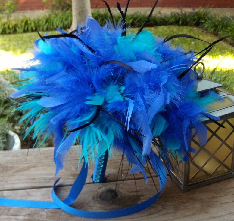 Diy Feather Bouquets Weddings: Ostrich Feather Bridal Bouquet Large Alice In Wonderland