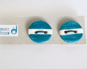 Discounted Ceramic buttons- Deep/Navy Blue and white