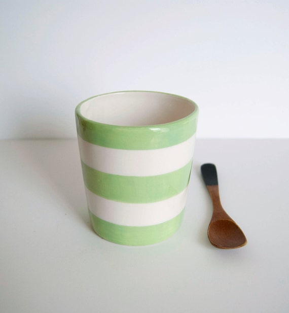 Cup for breakfast green and white
