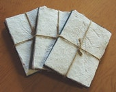 Handmade Paper Recycled Note Cards - Holiday Hemlock