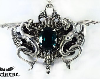 Dragon Necklace Mens Jewelry - Serpent Gothic Necklace - Gothick Jewelry