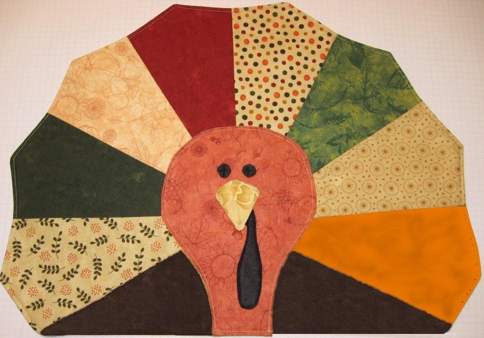 Gobble Gobble Turkey Placemat Pattern Only