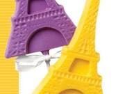 White Chocolate Eiffel Tower Lollipop Favor (6)