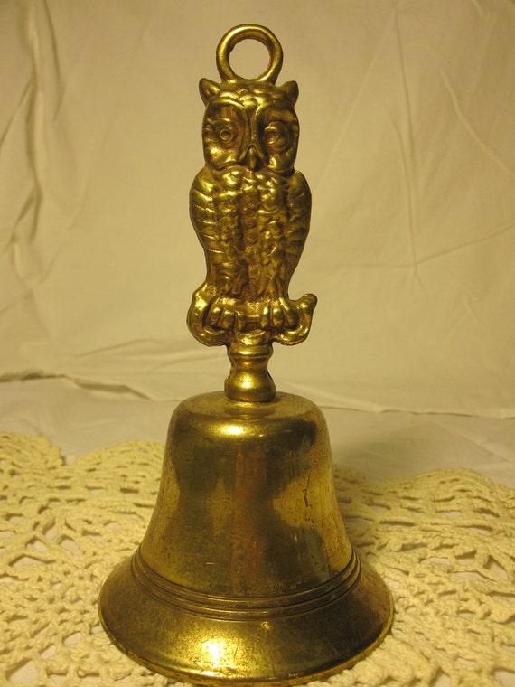 Vintage Owl Brass bell