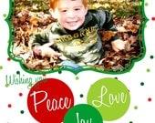 5x7 Custom Christmas/Holiday Photo Card