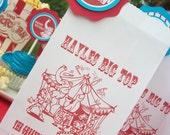 Mini Big Top Circus/Carnival Treat Bags-Set of 12