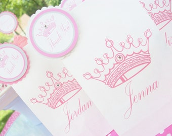 Mini-Princess Party Printed Favor/Treat Bags-set of 24