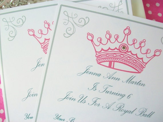 items similar to princess party invitations-set of 12-not, Invitation templates