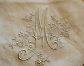 Ancient delicate cambric handkerchief