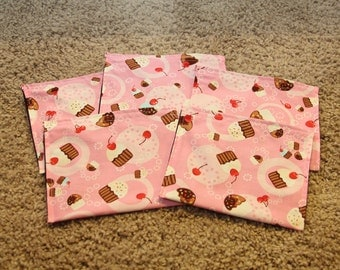 Party Favors-Reusable Sandwich Bags-Girl Cupcakes